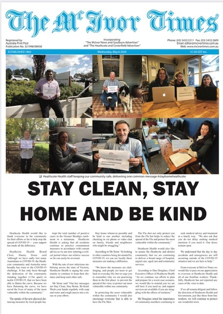 The-McIvor-Times-front-page-6th-May-2020-Heathcote-Health-StayHomeHeathcote